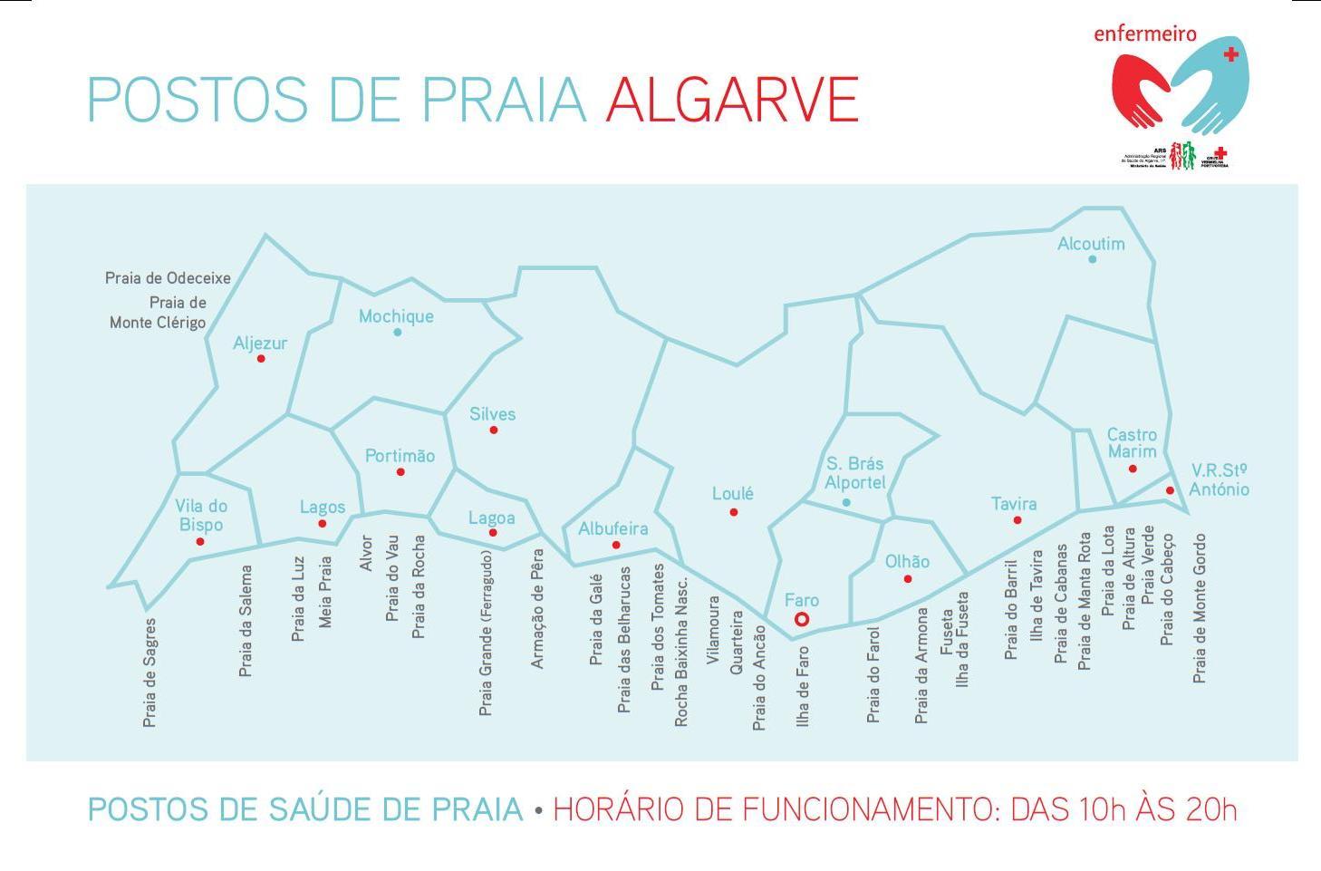 mapa das melhores praias do algarve ARS | Algarve mapa das melhores praias do algarve