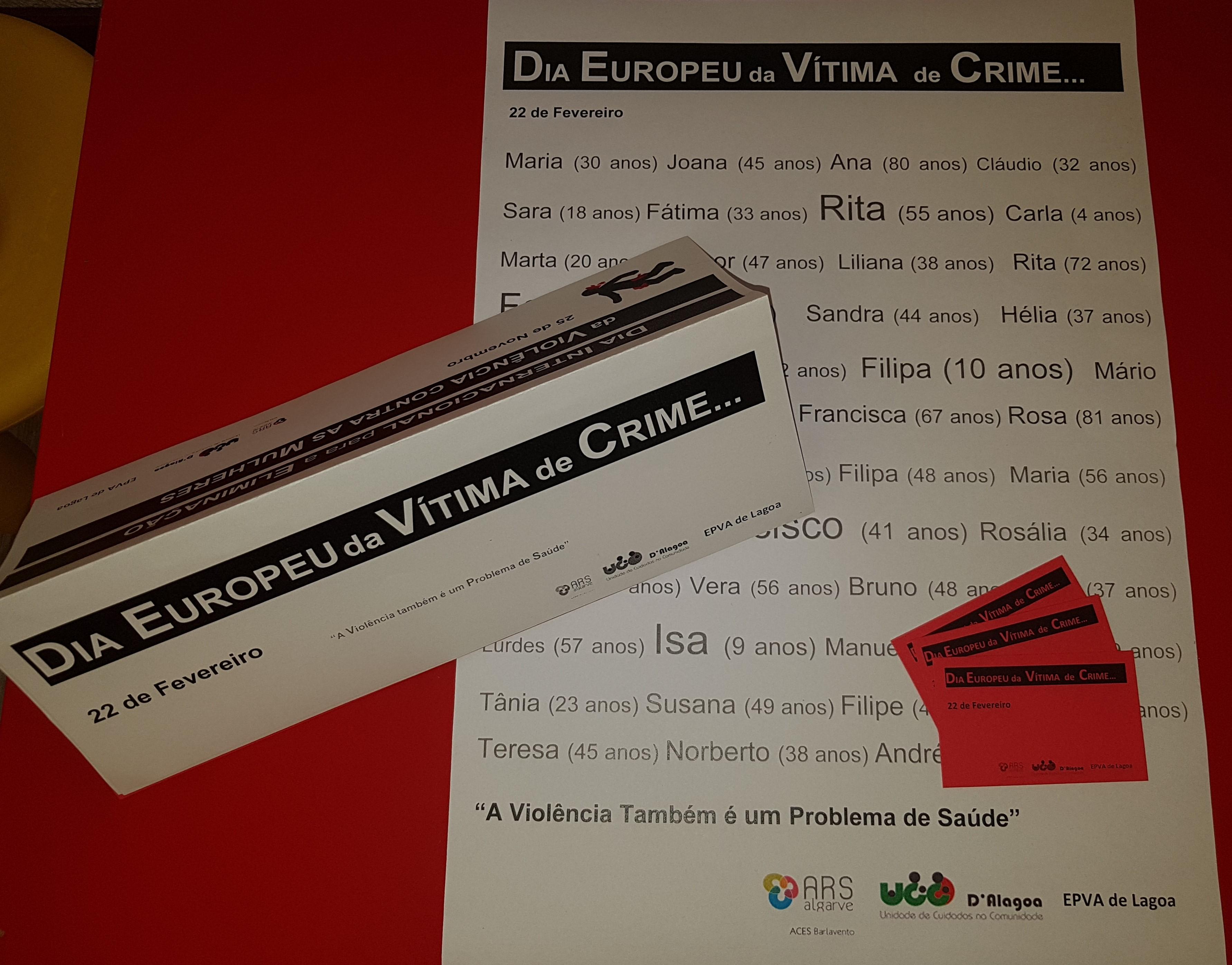 """UCC D'Alagoa promoveu ação de sensibilização no """"Dia Europeu da Vítima de Crime"""""""