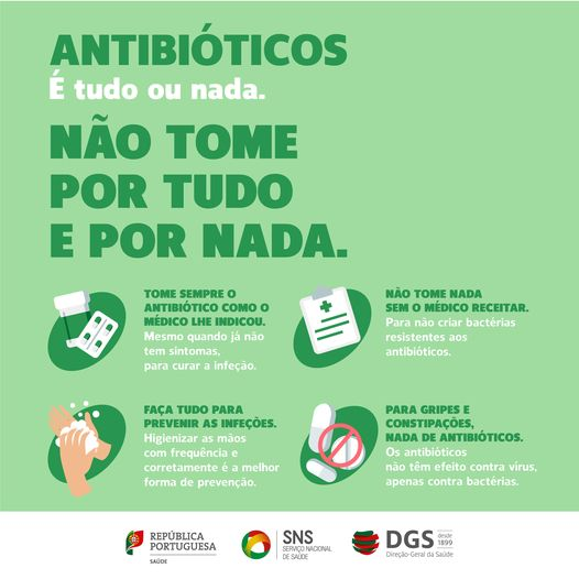 Direção-Geral da Saúde lança campanha para o uso seguro dos antibióticos